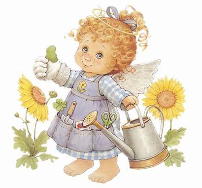 Angel Clipart Watering Gardener Angels Clip Transparent