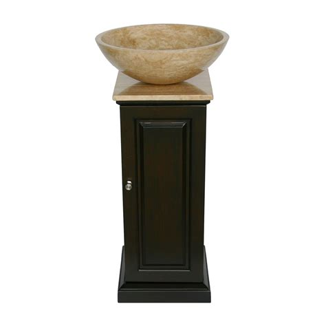 small cabinet for vessel sink shop silkroad exclusive neva dark espresso single vessel