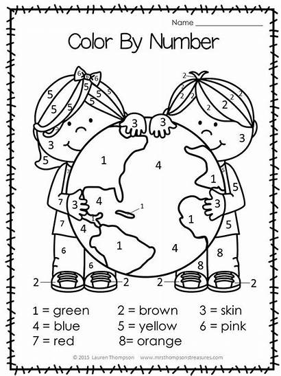 Coloring Kindergarten Pages Printable Cooperation Numbers Popular