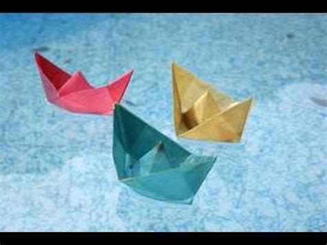 How To Make A Paper Dragon Boat by How To Make Origami Paper Boat Floats On Water Youtube