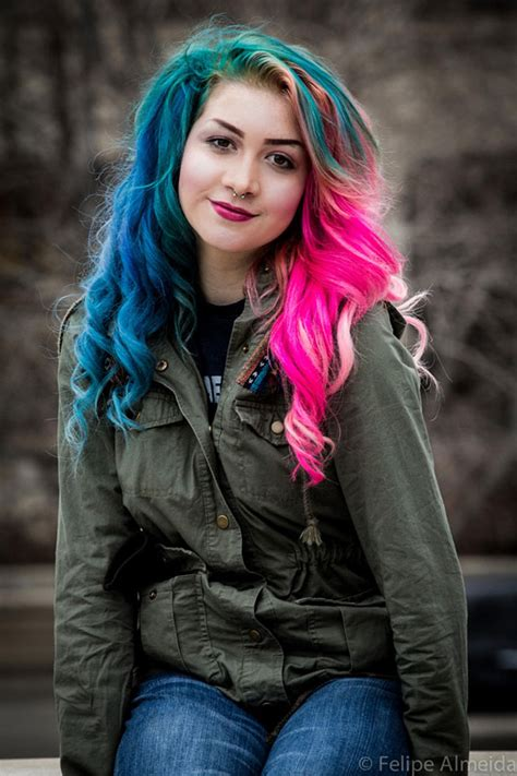 rainbow pastel hair    trend  women womans vibe