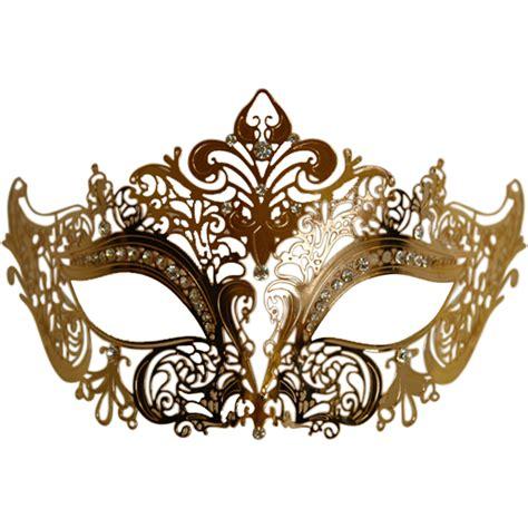 gold metal venetian half mask