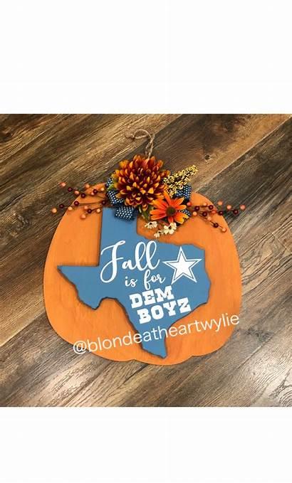 Pumpkin Cowboys Dallas Door Fall Hanger Hangers