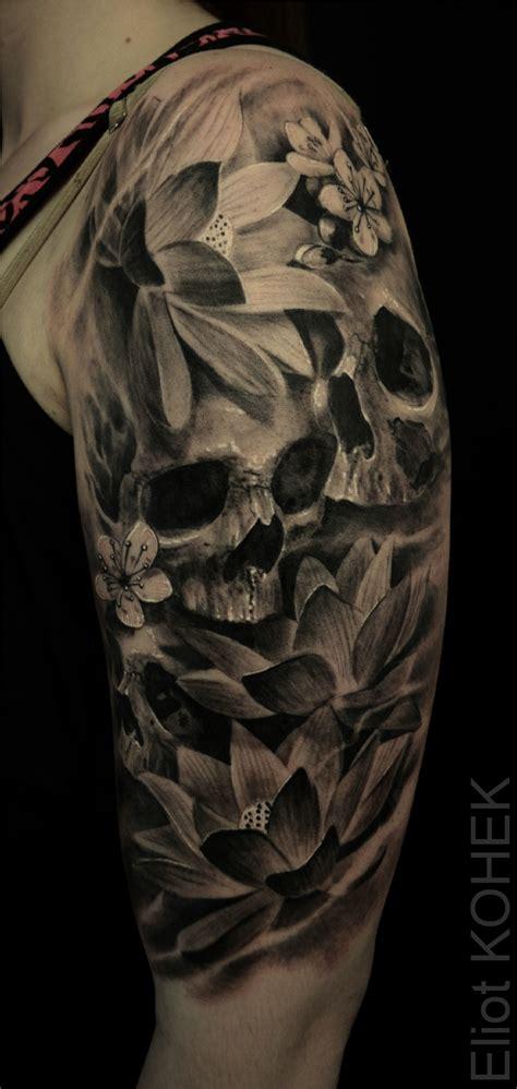 lotus flowers skulls skull tattoos tattoos skull tattoo flowers skull sleeve tattoos