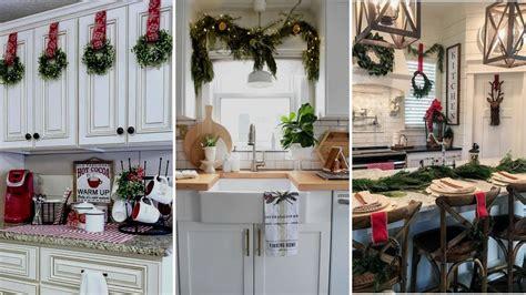 diy farmhouse style christmas kitchen decor ideas