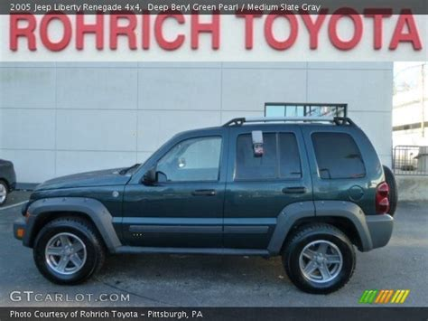 green jeep liberty renegade deep beryl green pearl 2005 jeep liberty renegade 4x4