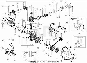 Poulan Te400 Gas Trimmer  Te400 Parts Diagram For Power Unit
