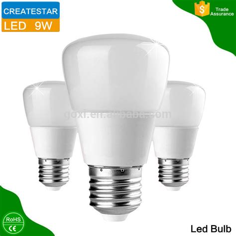 ce rohs approved led bulb bright 9w e27 led light