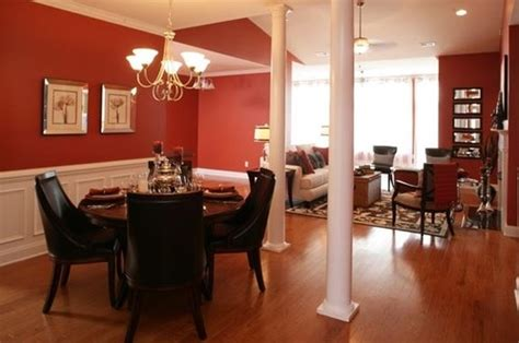 red brown combination paint color for dining room home