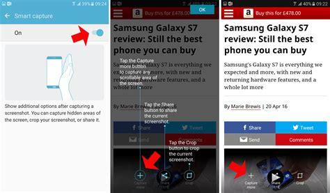 how to take a screenshot samsung galaxy s7 tech advisor