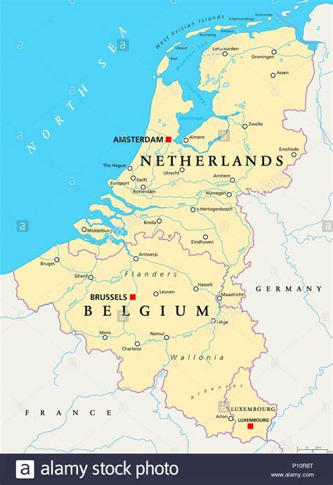 Sind Benelux Staaten by Karte Belgien Mit Grenzen Stockfotos Karte