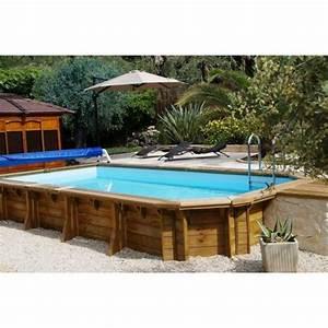 Piscine Enterrée Rectangulaire : piscine bois rectangulaire semi enterr e ~ Farleysfitness.com Idées de Décoration
