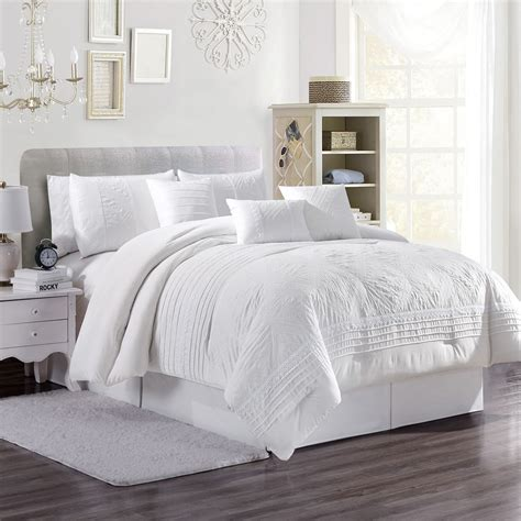 White Comforter Cover by 7 Vanya White Comforter Set