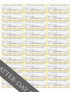latter day chatter primary assignment stickers With avery 6241 template