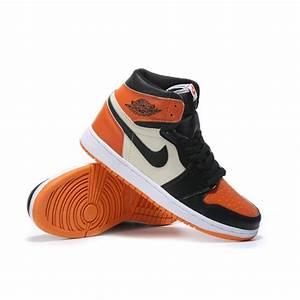 Cheap 2017 Air Jordan 1 High Orange Black White Basketball ...