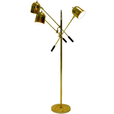 1960 s italian floor l with 3 articulating arms at 1stdibs