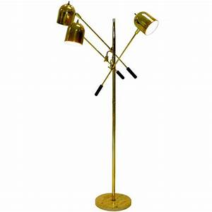196039s italian floor lamp with 3 articulating arms at 1stdibs With tuscan floor lamp antique brass