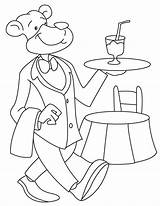 Coloring Waiter Pages Template Dog sketch template