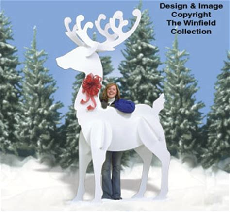 Plans to build Large Wooden Reindeer Pattern PDF Plans