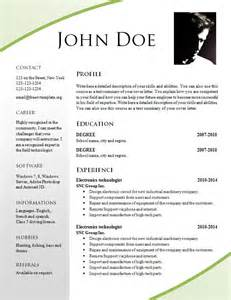 attractive cv templates free download free resume templates 695 701 freecvtemplate org