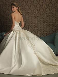satin ball gown wedding dress biwmagazinecom With satin ball gown wedding dresses