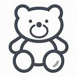 Bear Icon Teddy Toy Cuddle Vectorified