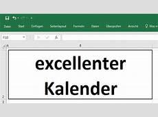 Excel 2016, TeamKalender Teil 1 Urlaubskalender, für