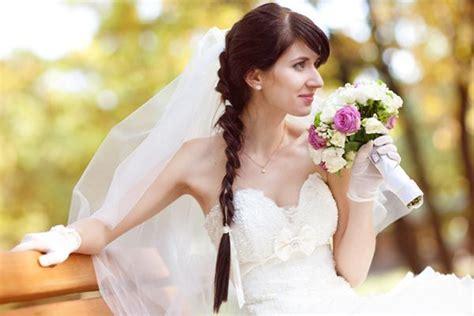 wedding dutch side braid veil bouffant hair ponytail