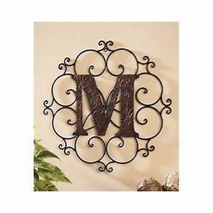large metal letter wall art decorative medallion alphabet With outdoor decorative letters
