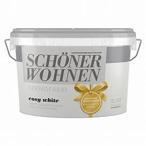 Schöner Wohnen Wandfarbe : sch ner wohnen wandfarbe trendfarbe jubil um cosy white ~ Watch28wear.com Haus und Dekorationen