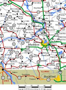South Central Wisconsin Road Map