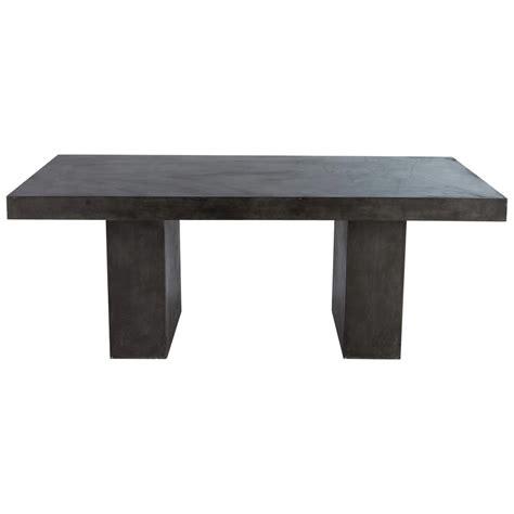 tisch in betonoptik tisch aus magnesia in betonoptik b 200 cm anthrazit mineral mineral maisons du monde