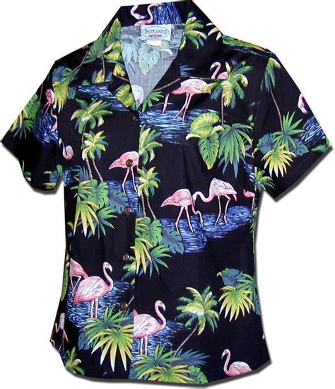 womens hawaiian shirts blouses tropical island wallpaper