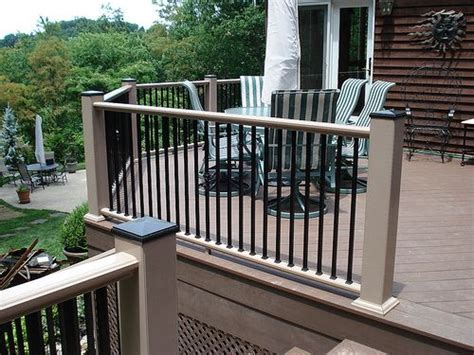 railing designs for outdoor decks and different
