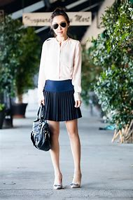 Silk Blouse and Skirt