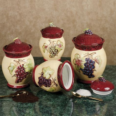 grape canister sets kitchen 17 best images about tuscan style decor on