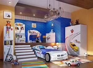 Deco Chambre Garcon 8 Ans : d co chambre gar on 27 id es originales th me voiture ~ Teatrodelosmanantiales.com Idées de Décoration