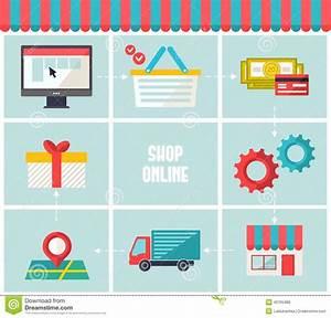 Set Online Shop : shop online infographics icons set flat trendy web infographic elements for business e commerce ~ Orissabook.com Haus und Dekorationen