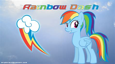 you are my 4 rainbow dash ponytail wallpaper by brightrai my
