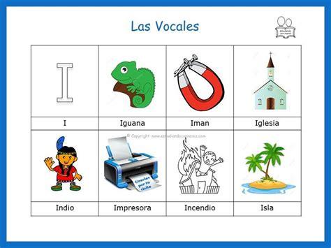 palabras con la vocal i palabras que inician con la vocal i vocales
