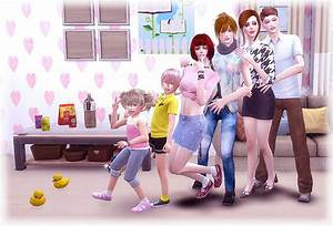 Family Pose 02 at A-luckyday » Sims 4 Updates