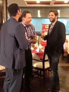 Shahid Afridi With Saqlain Mushtaq & Dr Nouman Niaz At Al ...