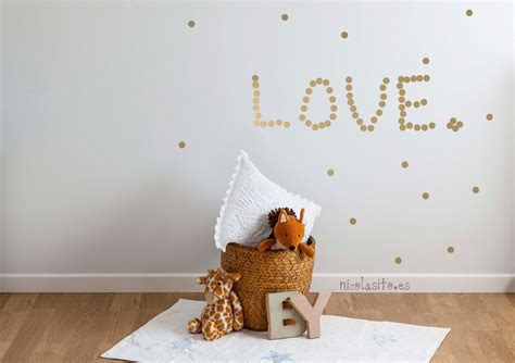 stickers étoile chambre bébé gold polka dots nursery wall decal wall stickers for