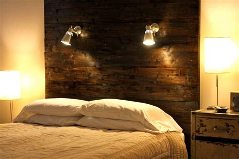 Rustic Headboard Light Fixtures For Diy Master Bedroom