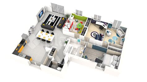plan 3d chambre plan maison plain pied chambres d with plan 3d chambre