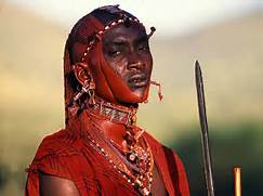 african tribe warrior ...