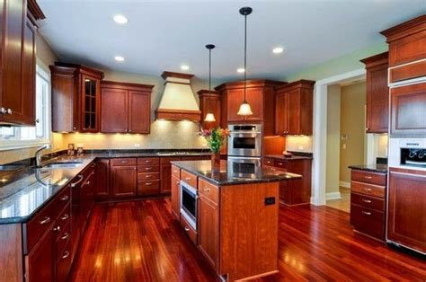 kitchens with cherry cabinets and wood floors amazing kitchens with cherry hardwood floors kitchen 9853