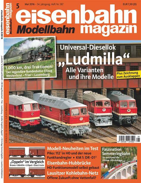 calameo eisenbahn modellbahn magazin