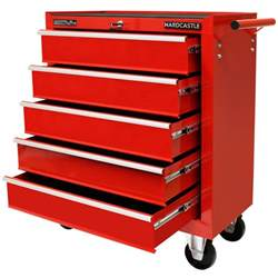 metal 5 drawer lockable tool chest storage box roller cabinet rolling cab ebay