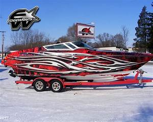 boat wrap graphics fits baja donzi crownline rinker With crownline boat lettering